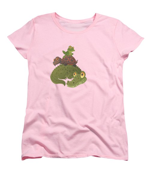 Swamp Squad Women's T-Shirt (Standard Cut) by John Schwegel