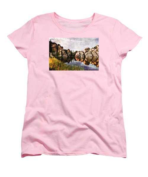 Sylvan Lake - Black Hills Women's T-Shirt (Standard Cut) by Ellen Heaverlo