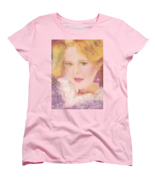 Women's T-Shirt (Standard Cut) featuring the drawing Sylvia by Denise Fulmer