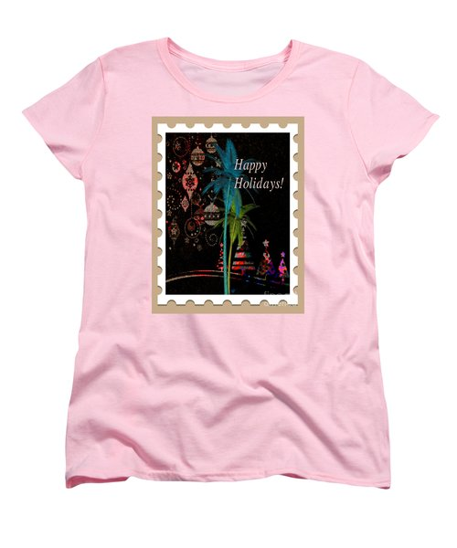 Women's T-Shirt (Standard Cut) featuring the digital art Tan Stamp by Megan Dirsa-DuBois