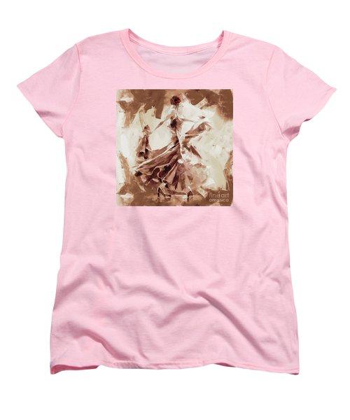 Women's T-Shirt (Standard Cut) featuring the painting Tango Dance 9910j by Gull G