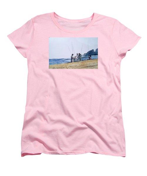 Teach Them To Fish Women's T-Shirt (Standard Cut) by Tim Johnson