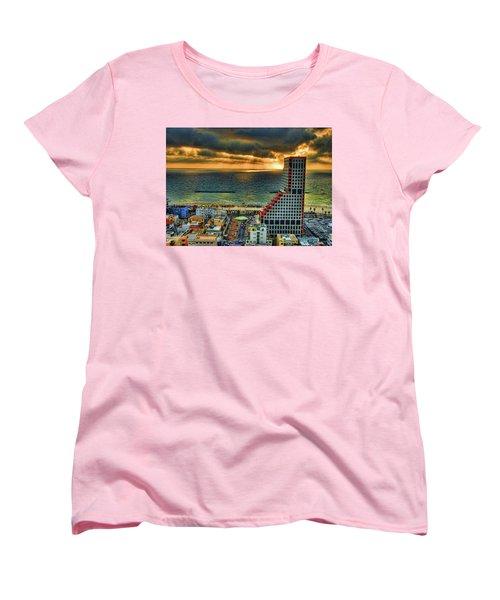 Women's T-Shirt (Standard Cut) featuring the photograph Tel Aviv Lego by Ron Shoshani