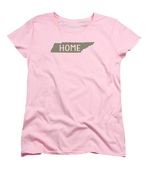 Tennessee Home Green Women's T-Shirt (Standard Cut) by Heather Applegate