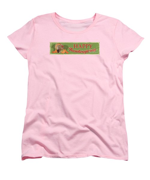 Women's T-Shirt (Standard Cut) featuring the painting Thanksgiving-c by Jean Plout