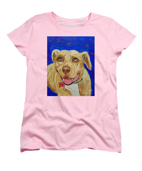 Women's T-Shirt (Standard Cut) featuring the painting That Smile by Ania M Milo