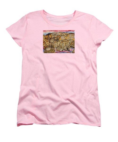 That's Alot Of Elephants Women's T-Shirt (Standard Cut) by Lisa Aerts