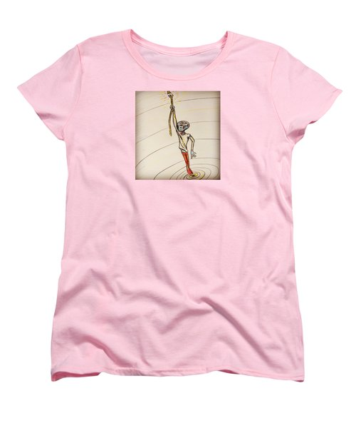 Women's T-Shirt (Standard Cut) featuring the drawing The Aliens Least Favorite Dream by Similar Alien