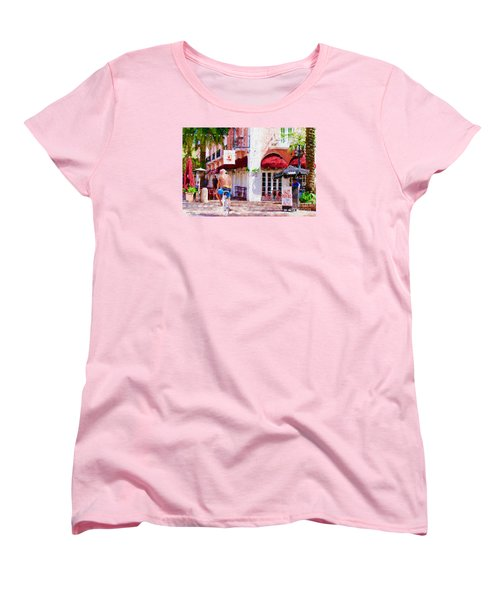 Women's T-Shirt (Standard Cut) featuring the painting The Biker by Judy Kay