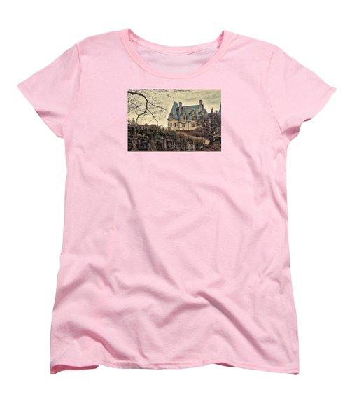 The Biltmore Mansion In The Fall Women's T-Shirt (Standard Cut) by Robert FERD Frank