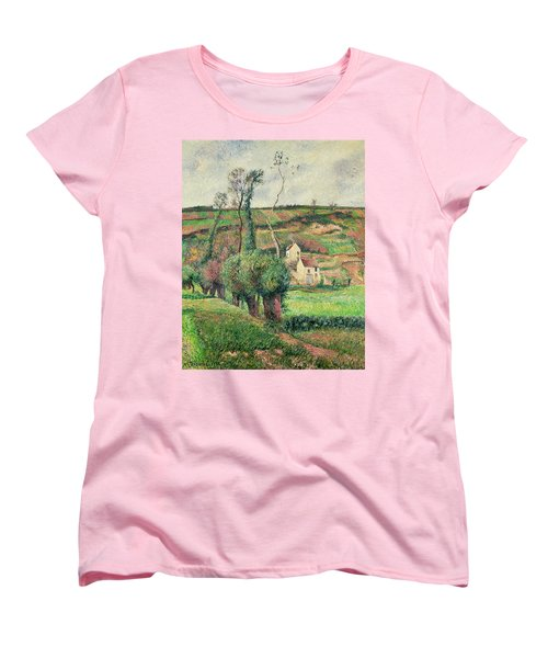 The Cabbage Slopes Women's T-Shirt (Standard Cut) by Camille Pissarro