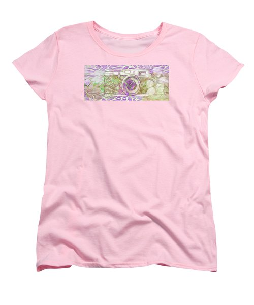 Women's T-Shirt (Standard Cut) featuring the digital art The Camera - 02c6 by Variance Collections