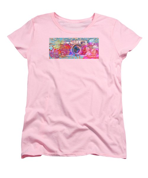 Women's T-Shirt (Standard Cut) featuring the digital art The Camera - 02v2 by Variance Collections