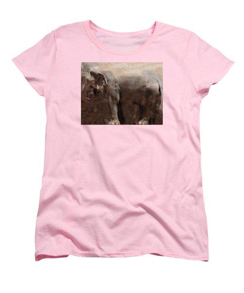 Women's T-Shirt (Standard Cut) featuring the digital art The Cave by Robert Orinski