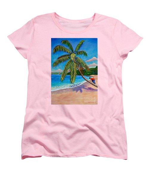 The Climb Women's T-Shirt (Standard Cut) by Laura Forde