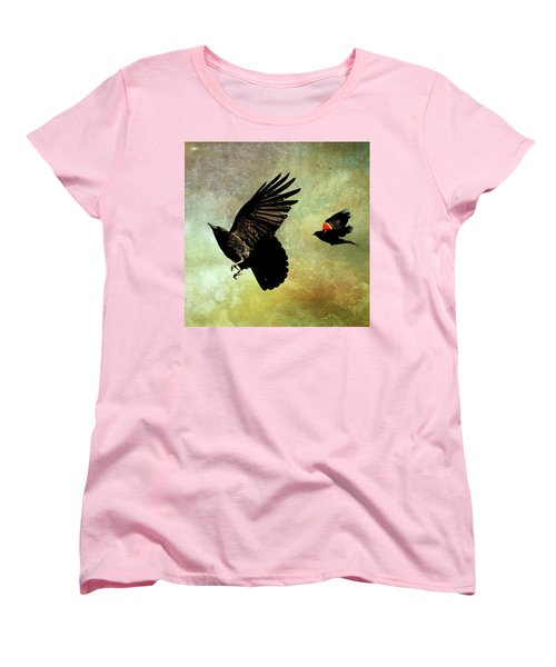 The Crow And The Blackbird Women's T-Shirt (Standard Cut) by Peggy Collins