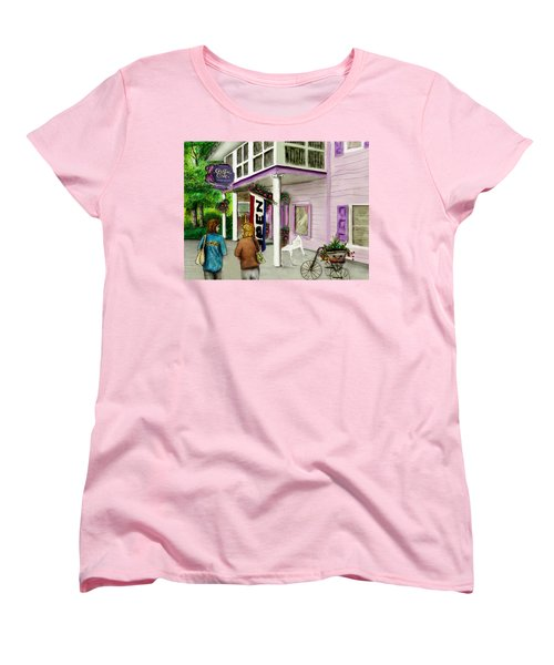 Women's T-Shirt (Standard Cut) featuring the drawing The Crystal Cove At Lilydale Ny by Albert Puskaric