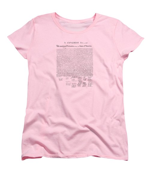 The Declaration Of Independence Women's T-Shirt (Standard Cut) by War Is Hell Store