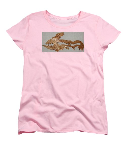 The Fish Skeleton Women's T-Shirt (Standard Cut) by Robert Margetts