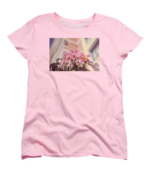 Women's T-Shirt (Standard Cut) featuring the photograph The Flowers Of Malaga by Jenny Rainbow