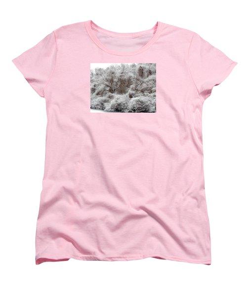 Women's T-Shirt (Standard Cut) featuring the photograph The Forest Hush by Lynda Lehmann