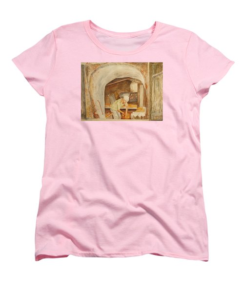 Women's T-Shirt (Standard Cut) featuring the painting The French Baker by Vicki  Housel