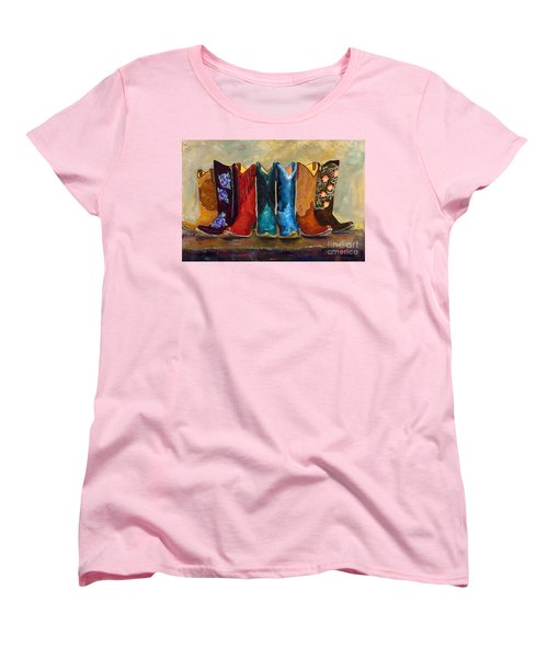 The Girls Are Back In Town Women's T-Shirt (Standard Cut) by Frances Marino