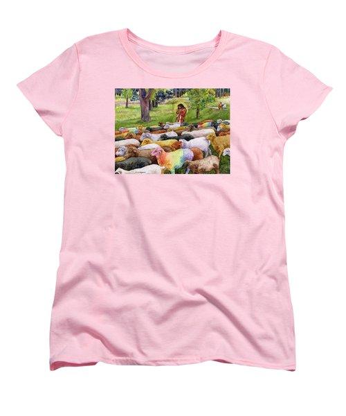 The Good Shepherd Women's T-Shirt (Standard Cut) by Anne Gifford