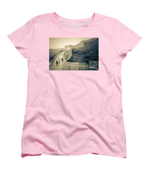 Women's T-Shirt (Standard Cut) featuring the photograph The Great Wall Of China by Heiko Koehrer-Wagner