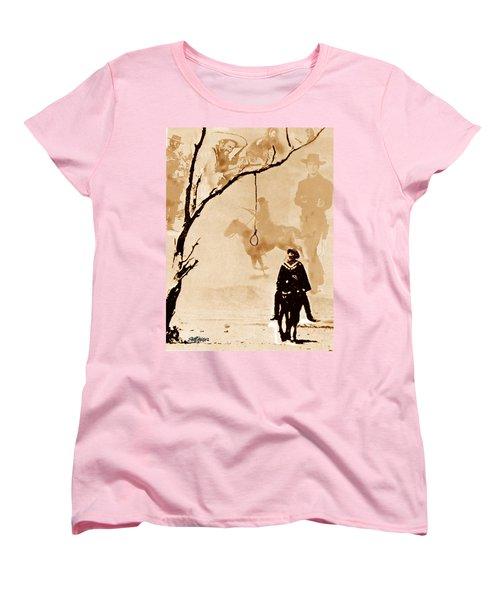 Women's T-Shirt (Standard Cut) featuring the digital art The Hangman's Tree by Seth Weaver