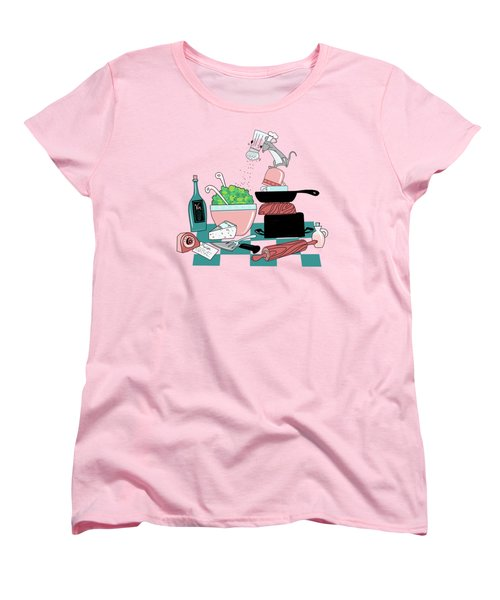 The Hungry Mouse Women's T-Shirt (Standard Cut) by Little Bunny Sunshine