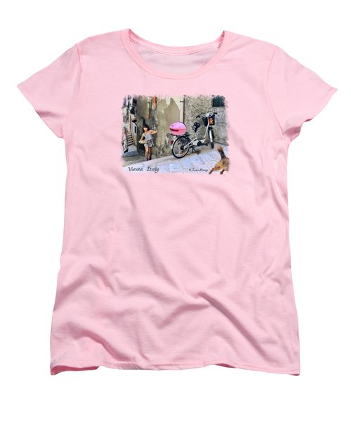 The Life.vieste.italy Women's T-Shirt (Standard Cut) by Jennie Breeze