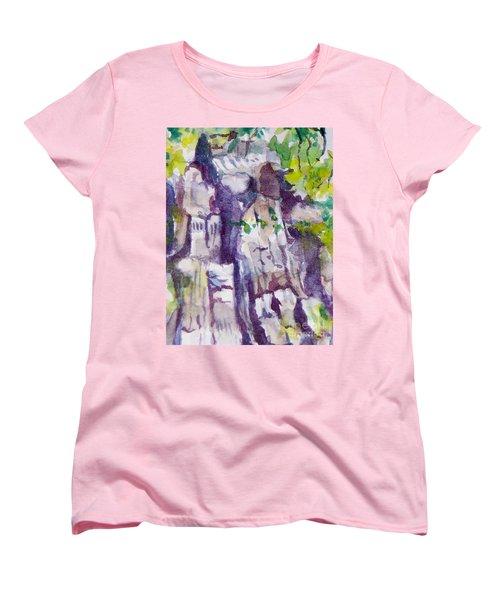 The Little Climbing Wall Women's T-Shirt (Standard Cut) by Jan Bennicoff