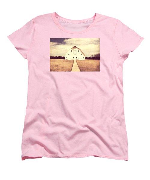 Women's T-Shirt (Standard Cut) featuring the photograph The Long Walk by Julie Hamilton