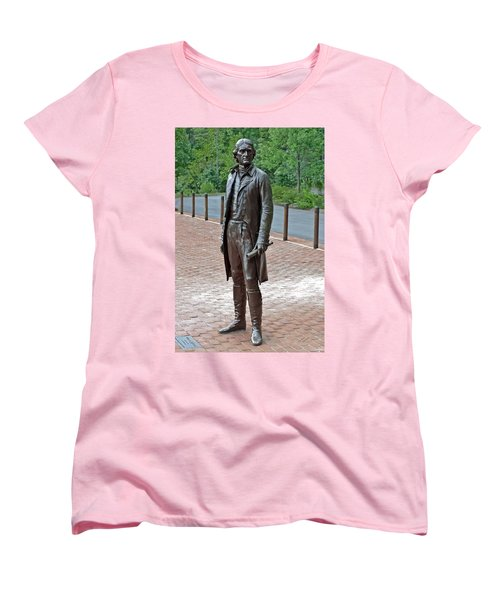 The Man Behind Monticello Women's T-Shirt (Standard Cut) by DigiArt Diaries by Vicky B Fuller