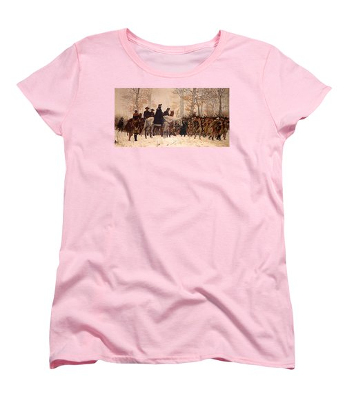 The March To Valley Forge Women's T-Shirt (Standard Cut) by Mountain Dreams