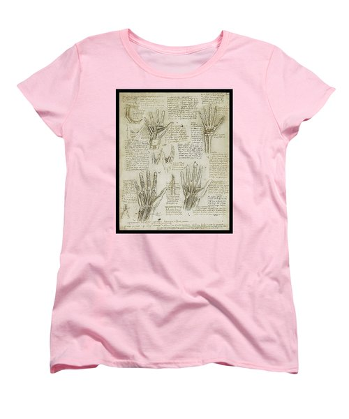 Women's T-Shirt (Standard Cut) featuring the painting The Metacarpal by James Christopher Hill
