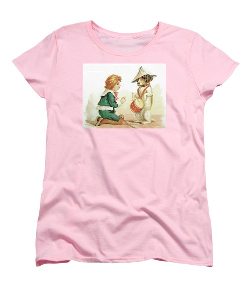 The Musical Pooch Women's T-Shirt (Standard Cut) by Reynold Jay
