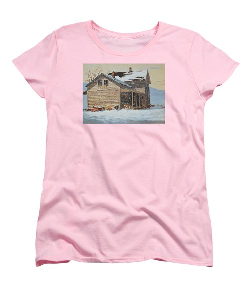 the Old Farm House Women's T-Shirt (Standard Cut) by Len Stomski