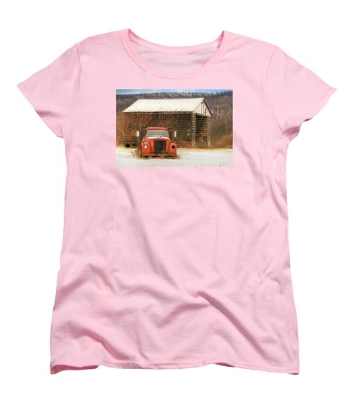 Women's T-Shirt (Standard Cut) featuring the photograph The Old Lumber Truck by Lori Deiter
