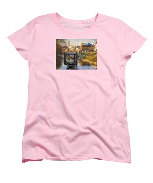Women's T-Shirt (Standard Cut) featuring the photograph The Photographer's Way Of Seeng by Vladimir Kholostykh