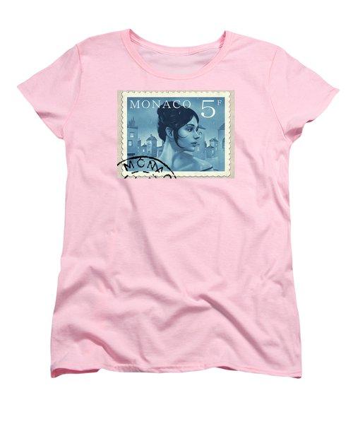 The Rainy Days Stamp Women's T-Shirt (Standard Cut) by Udo Linke