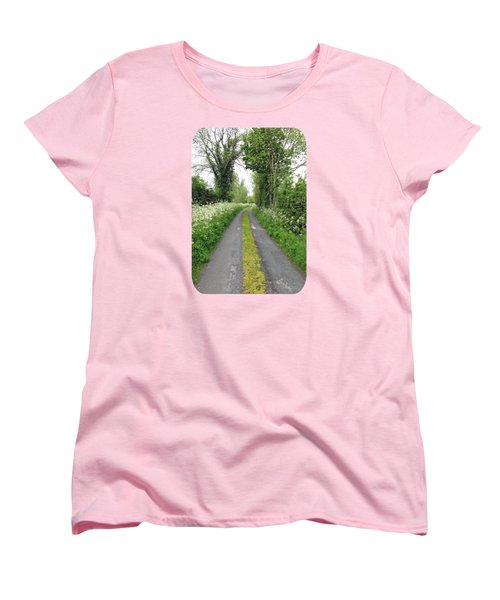 The Road To The Wood Women's T-Shirt (Standard Cut) by Ethna Gillespie