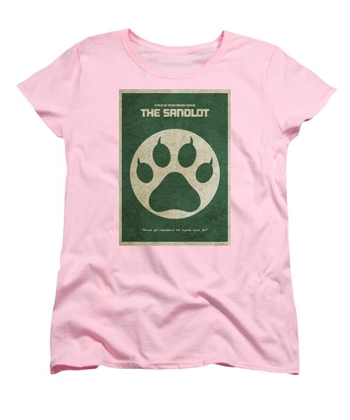 The Sandlot Alternative Minimalist Movie Poster Women's T-Shirt (Standard Cut) by Ayse Deniz