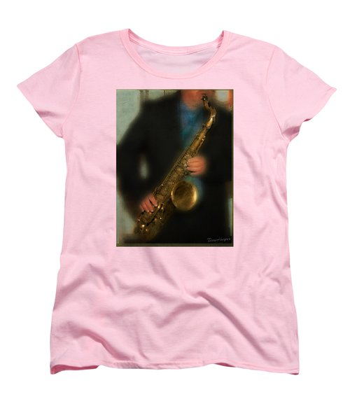 The Sax Player Women's T-Shirt (Standard Cut) by Terri Harper