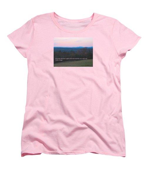 The Sun Will Rise Women's T-Shirt (Standard Cut) by Deborah Dendler