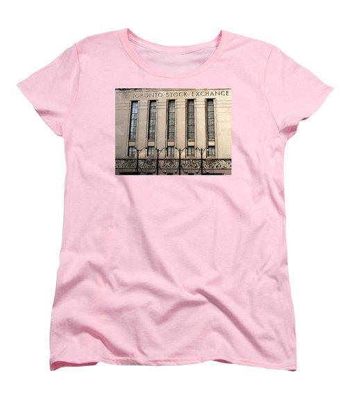 The Toronto Stock Exchange Women's T-Shirt (Standard Cut) by Ian  MacDonald