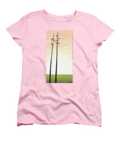The Trees Are So Tall Here   Women's T-Shirt (Standard Cut) by Carolyn Doe
