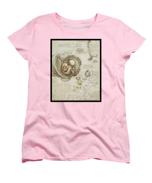 Women's T-Shirt (Standard Cut) featuring the painting The Womb And Embreyo  by James Christopher Hill