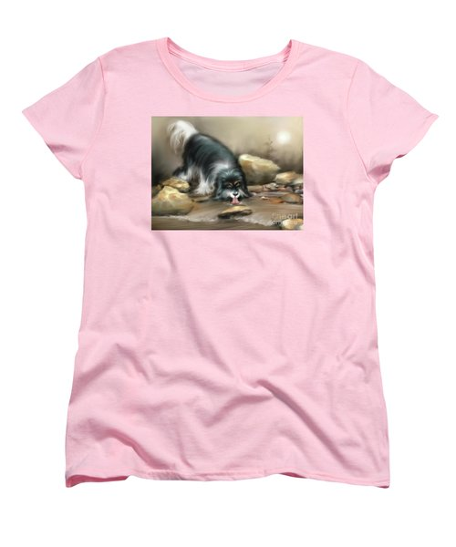 Women's T-Shirt (Standard Cut) featuring the painting Thirsty by S G